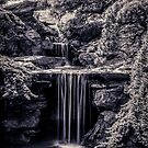 A Waterfall In The Japanese Garden by EdwardKay