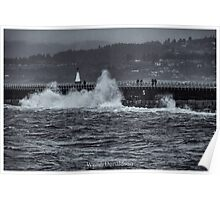 Storm on the Breakwater Poster