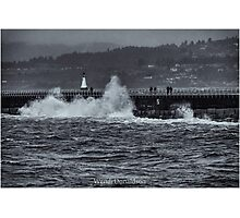 Storm on the Breakwater Photographic Print