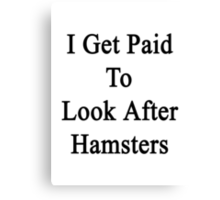 I Get Paid To Look After Hamsters Canvas Print
