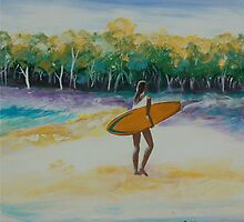 Surf By Coralie Newman by TwoBaysArtGroup