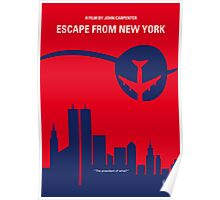 No219 My Escape from New York minimal movie poster Poster