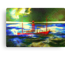 My digital painting of The South Goodwin Light Vessel Canvas Print