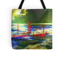 My digital painting of The South Goodwin Light Vessel Tote Bag