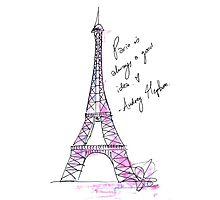 Paris is always a good idea: Hepburn by nomadicart