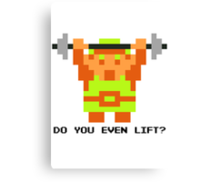Do You Even Lift? 8-bit Link Edition v2 Canvas Print