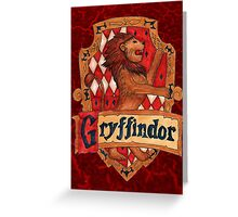Gryffindor House Crest Greeting Card
