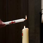 Lighting a Church Candle by niksheppard