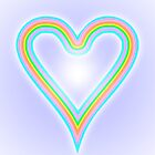 Rainbow Heart of Love by Martin Rosenberger