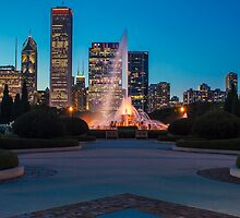 Buckingham Fountain from the south garden by Sven Brogren