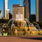 Chicago's Buckingham Fountain in the morning sun by Sven Brogren