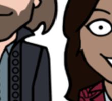 Ichabod and Abbie sticker Sticker