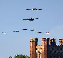 BBMF 2013 Big Formation over Tattershall Castle  by Colin Smedley
