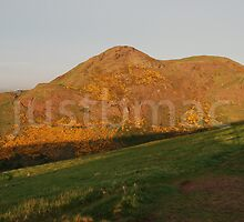 Arthur's Seat at Dusk by justbmac