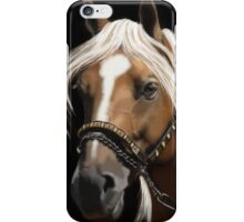 The Palomino - Horse Portrait Painting iPhone Case/Skin