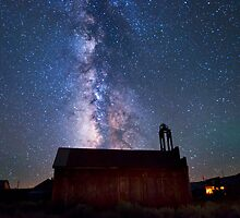 Fire Station and Milky Way by Cat Connor