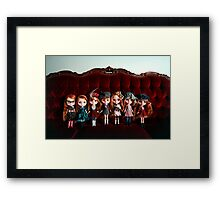 All The Reds Framed Print
