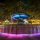 A colorful Fountain in Paris by Sven Brogren