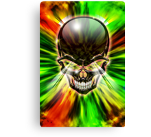 Crystal Skull on Psychedelic Flames Canvas Print