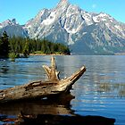 The Great Tetons across Jackson Lake by Jennifer Lyn King