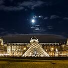 A full moon over the Louvre  by Sven Brogren