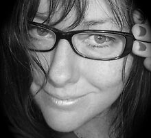 Reading Glasses in Black & White by Anthea  Slade