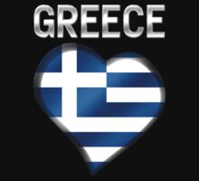 Greece - Greek Flag Heart & Text - Metallic by graphix