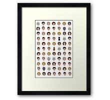 The Doctors Who Framed Print
