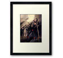 Long Black Veil Framed Print