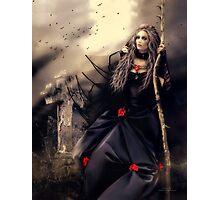 Long Black Veil Photographic Print