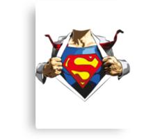 Superman revealed Canvas Print