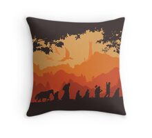 Nine Companions Throw Pillow