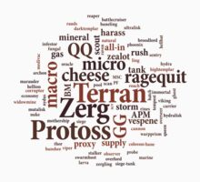 Starcraft Wordcloud - coffee by SCshirts