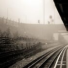 Foggy Tube Station by Stephen Hall