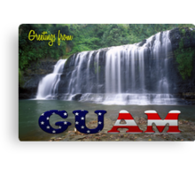 Greetings from Guam Canvas Print