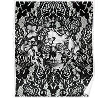 Butterfly lace skull pattern.  Poster