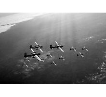Boston raiders black and white version Photographic Print