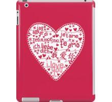 Te Amo iPad Case/Skin