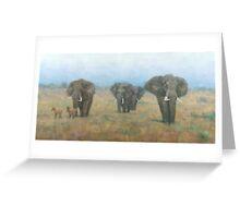 Kenyan Elephants Greeting Card