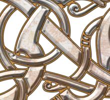 Viking Dragon in metal Sticker