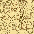 Wild animals pattern by oksancia