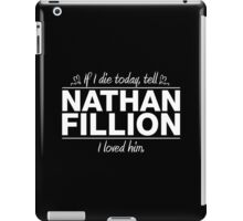 "Nathan Fillion - ""If I Die"" Series (White) iPad Case/Skin"