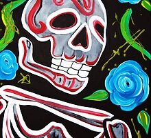 Red Skulls N Roses by Laura Barbosa
