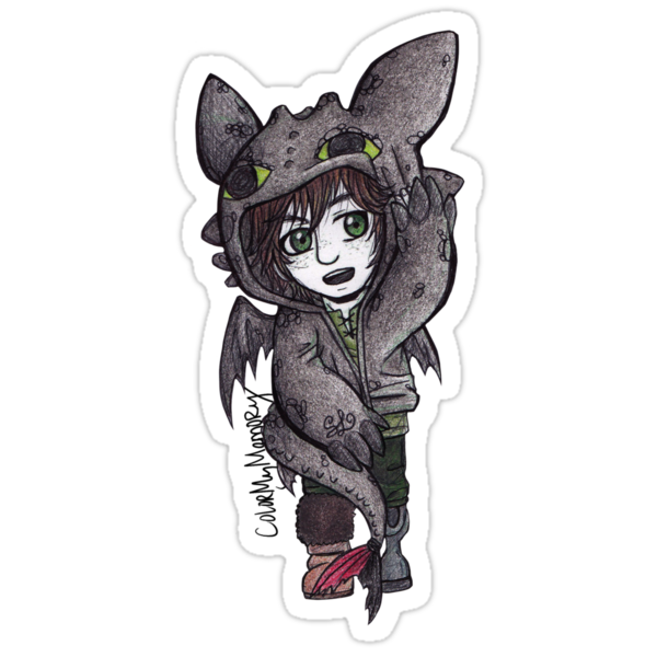 Small: Hiccup in Toothless Hoodie by ColorMyMemory