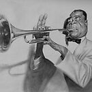 Louis Armstrong by Matthew Hennen