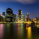 Brisbane CBD Twilight by D Byrne