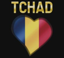 Tchad - Chadian Flag Heart & Text - Metallic by graphix