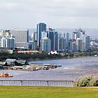 Perth City from Kings Park, Western Australia #2 by Elaine Teague
