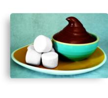 Chocolate Mousse with Marshmallows Canvas Print