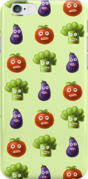 Funny Cartoon Vegetables by Boriana Giormova